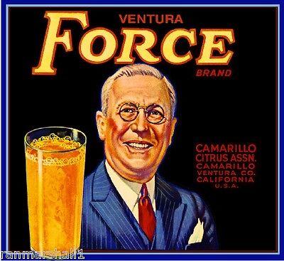 Camarillo Ventura Vital Tennis Player Orange Citrus Fruit Crate Label Art Print