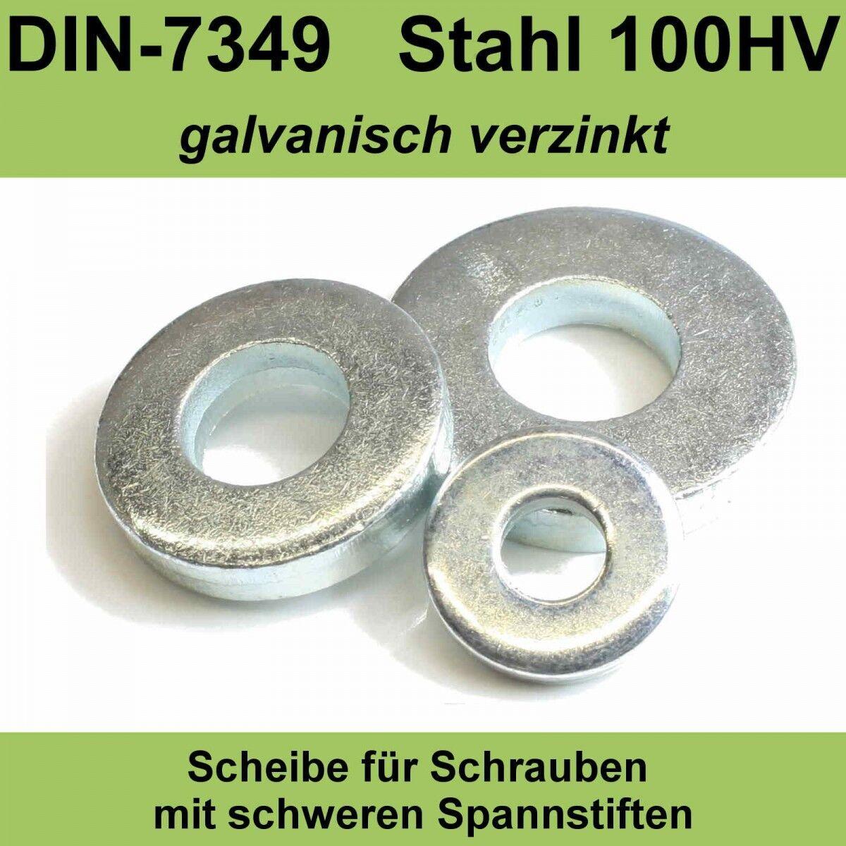 19,0 DIN7349 Unterlegscheiben verzinkt f schwerer Spann-hülse Stifte 200 HV M18