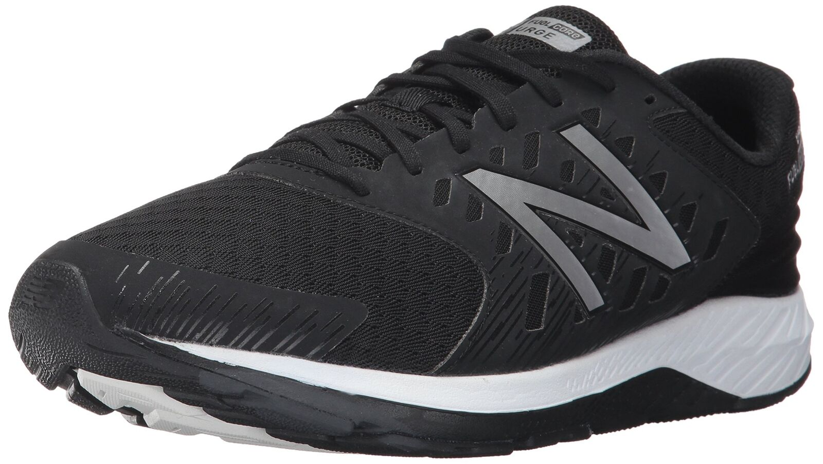 New Balance Men's URGEV2 Running-shoes, Black Metallic Silver, 10 D US