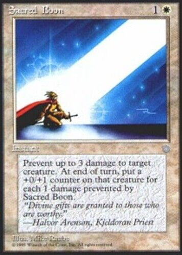 4x Sacred Boon MTG Ice Age NM Magic Regular