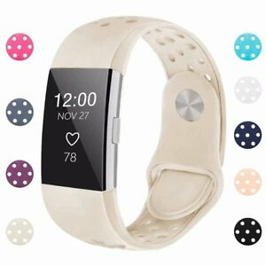 For-Fitbit-Charge-2-Wristband-Replacement-Buckle-Silicone-Strap-Watch-Band-S-L
