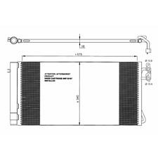 Clima radiador condensador aire acondicionado Lancia tema 3,0 CRD 05175368aa 1215477aa