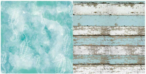 "BoBunny Boardwalk Double-Sided Cardstock 12X12/"" Scrappapier maritim 30,5x30,5"