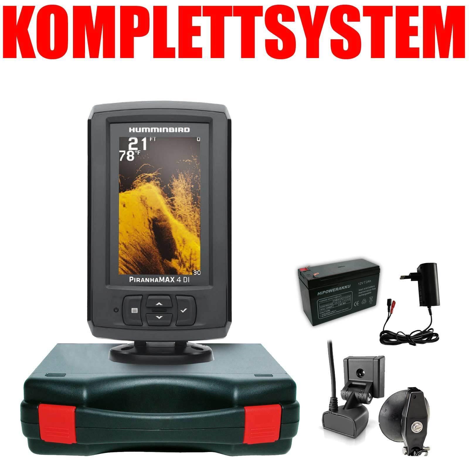 Humminbird Echolot Portabel Basic Komplettsystem - PiranhaMax 4 DI DI DI Down Imaging dfec0c