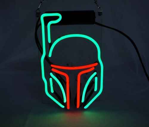 "10/""x7/""Star Wars Mask Neon Sign Light Beer Bar Pub Home Room Wall Decor Artwork"