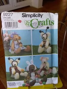 Oop-Simplicity-Crafts-9227-Dream-Babies-18-034-22-034-teddy-bear-amp-clothes-NEW