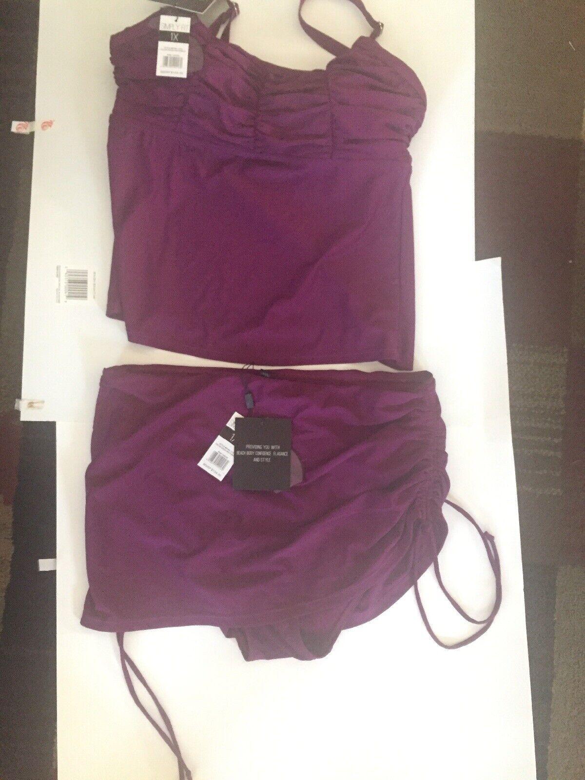 Placez SimpleHommest Plus Taille 1X Tankini Violet Nouveau  208