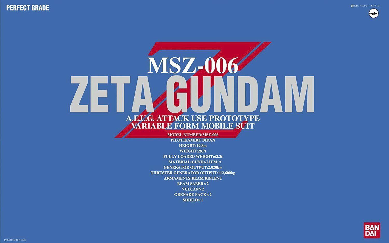 MSZ-006 Z Gundam GUNPLA PG Perfect Grade 1  60 Robot BeAI modellololo Kit Montaggio  incredibili sconti