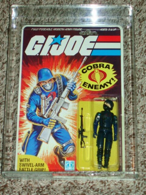 Vintage GI JOE 1984 AFA/CAS 75 COBRA Soldier ARAH Hasbro 2/32 back MOC!!