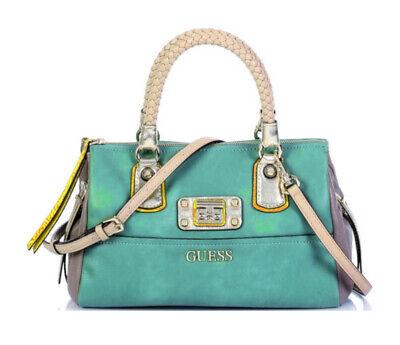 Guess Telos Small Satchel Emerald, Women's Handbag Strap Bag | eBay