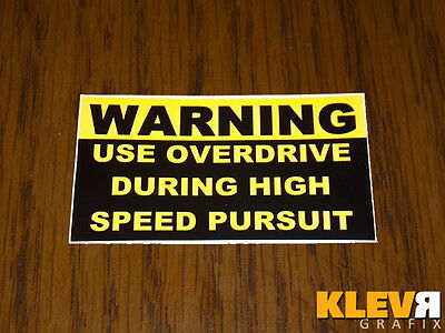 P71 Crown Vic Police Interceptor Overdrive Pursuit Decal Sticker OE Style CVPI