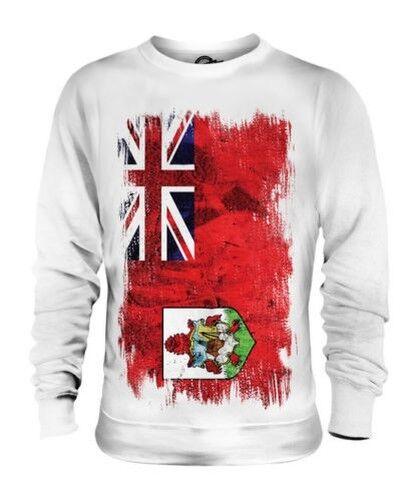 Bermuda Grunge Flag Unisex Pullover Top Bermuda Fußball Bermuda Geschenk T-Shirt