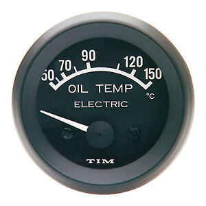 TIM Water Temperature Electrical Gauge Motorsport//Rally//Race White Dial Face