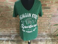 Creative apparel NCAA Women's Michigan State Spartans T-Shirt Green large