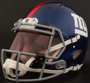 1ecf5c53 Details about NEW YORK GIANTS NFL Authentic GAMEDAY Football Helmet w/  COLORED Eye Shield