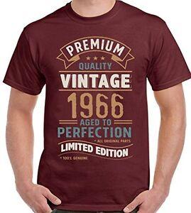 Détails sur Vintage année 1966 Édition Limitée 53rd Anniversaire Homme Drôle T shirt 53 ans afficher le titre d'origine