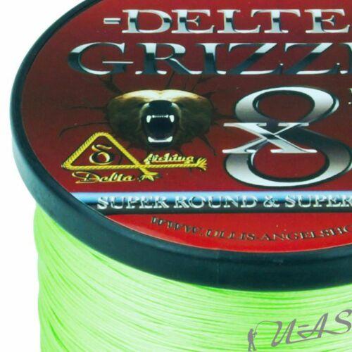 DELTEX GRIZZLY Hell Grün 0.08mm 11,40kg 300M PE JAPAN 8x Geflochtene Angelschnur