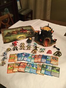 Gormiti-lot-of-16-Action-Figures-21-cards-lords-of-Nature-Fire-Mountain-Play-Set