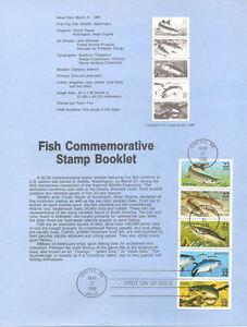 8609-22c-Fish-Stamp-Booklet-2205-2209a-USPS-Souvenir-Page