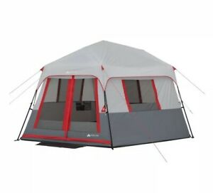 Ozark Trail 8 Person Instant Hexagon Camping Tent With Led