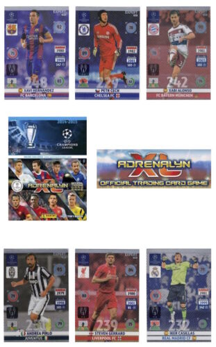 ADRENALYN XL CHAMPIONS LEAGUE 14//15 trading cards cartes d/'experts individuels.
