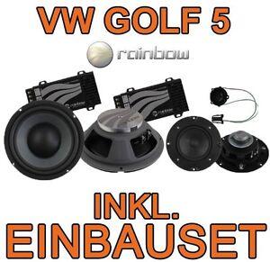 vw golf v 5 plus rainbow 3 wege lautsprecher boxen. Black Bedroom Furniture Sets. Home Design Ideas