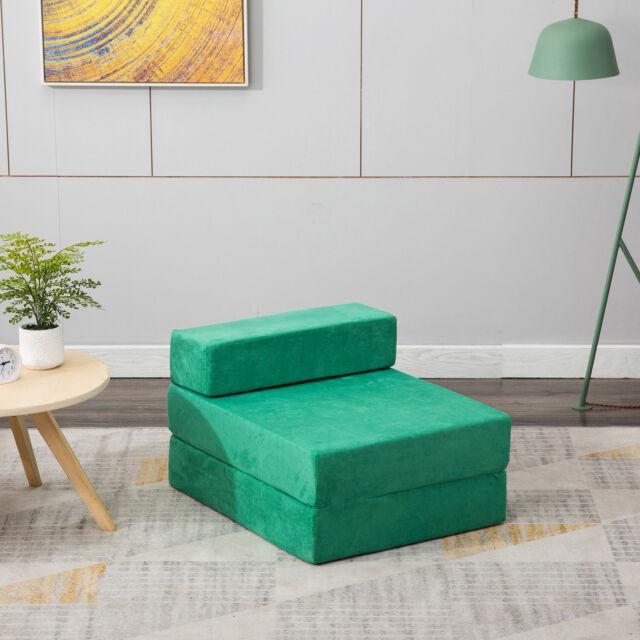Wondrous Sleeper Chair Folding Foam Bed Mattress Floor Ottoman Seat Single Guest Futon Cjindustries Chair Design For Home Cjindustriesco