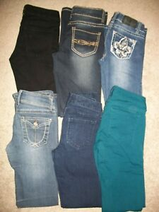 8a58dc28d7e GUC!! LOT OF 6 WOMENS JUNIORS SIZE 0 1 JEANS 25-27 X 30-31 SOUNDGIRL ...