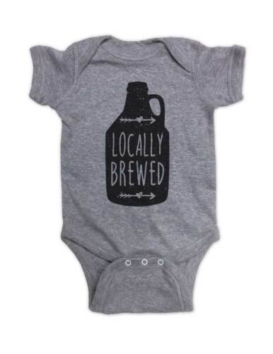 Locally Brewed craft beer alcohol drink funny baby bodysuit Infant Youth Shirt