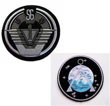Stargate SG-1 TV Series Patch Set of 2  Iron-On Command Uniform Goth Punk Logo