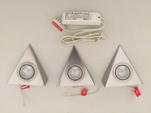 Details About Sensio Se10010 Bemuda Triangle Under Cabinet Lighting Kit 3 Lights Driver