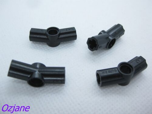 LEGO PART 32016 TECHNIC AXLE PIN CONNECTOR ANGLED BLACK X 4 PCS