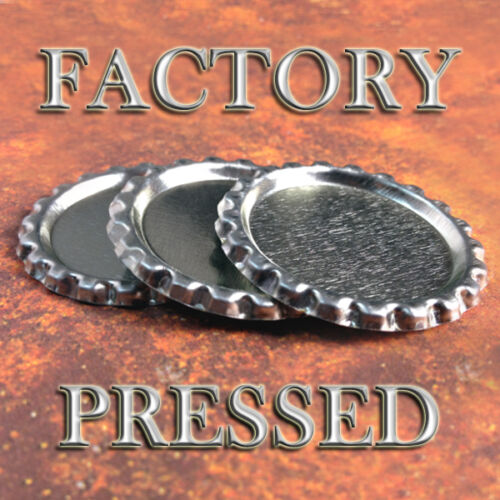 FLAT BOTTLE CAPS FACTORY PRESSED Flattened Bottlecap Necklace Jewelry 50 QTY