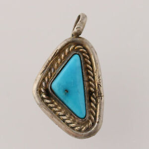 Native-American-Turquoise-Pendant-Sterling-Silver-Women-039-s-Fine-Gemstone-Gift