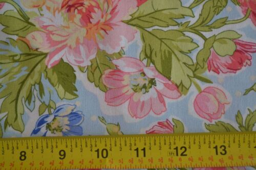 B991 Large Floral on Blue Quilting P/&B//Leila Rose//Anderson//00696-B By 1//2 Yd