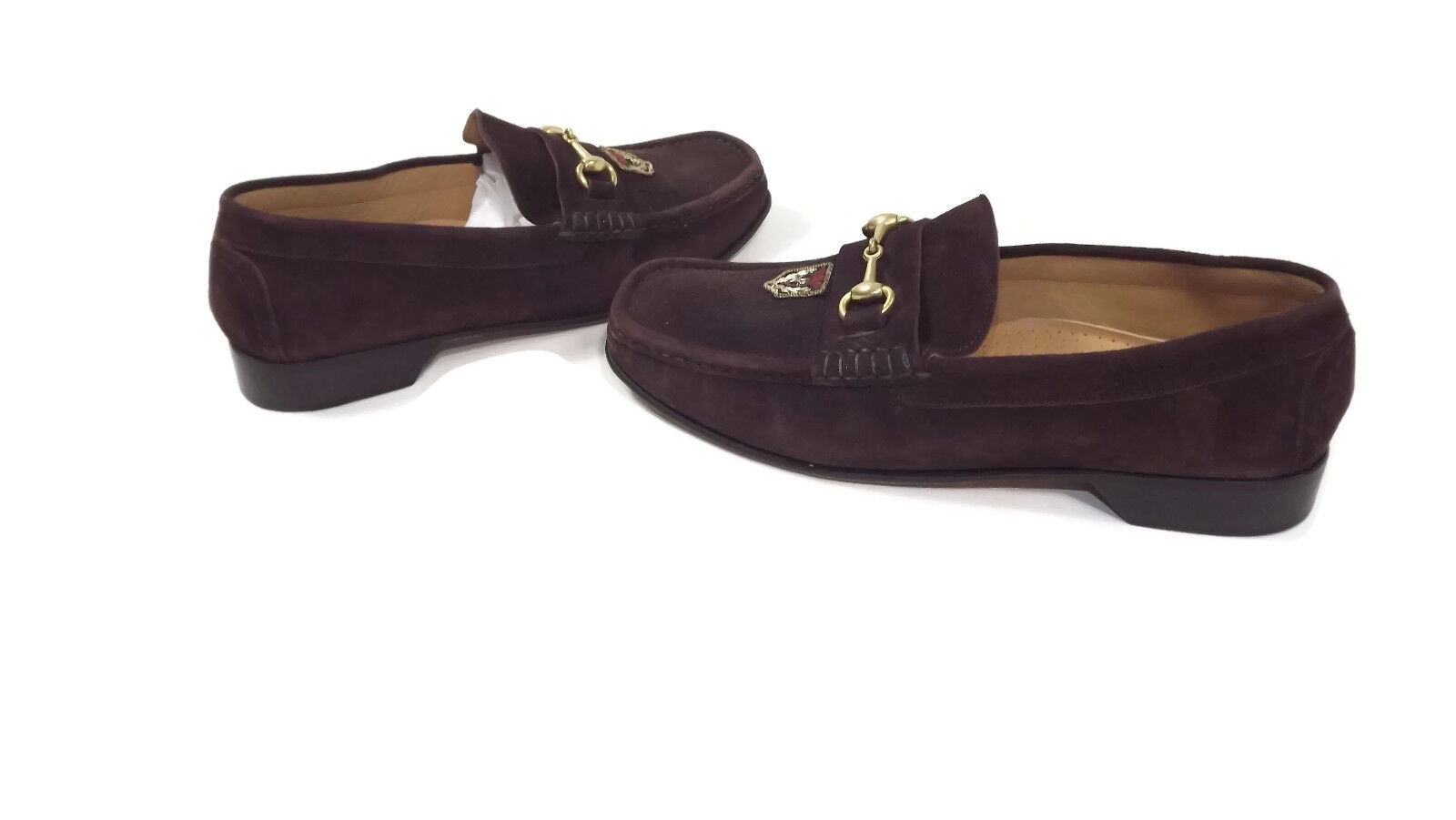 JACOB Collection Massimo Natali mens shoes Size 10 M BROWN Sheep Suede Leather