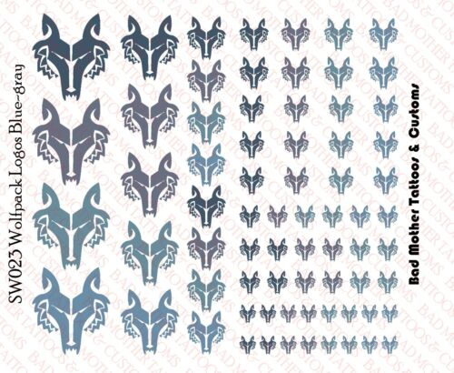 Star Wars blue-gray wolf pack Waterslide Decals pour 1//18-1//12 FIGURINES Wolfpack