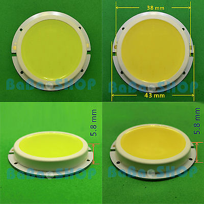 3W / 5W / 7W Cold / Warm White Round COB LED Lamp Spot Light 43mm + AC/DC Supply