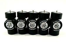 5 sets Watanabe 8sp Black Yokohama Advan long axle 1:64 hot wheels rubber tires
