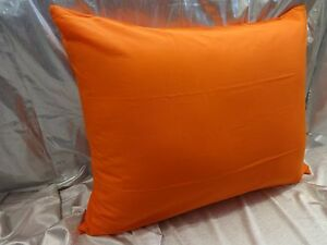 Bed Pillow Case Queen Standard King Covers Orange Cotton