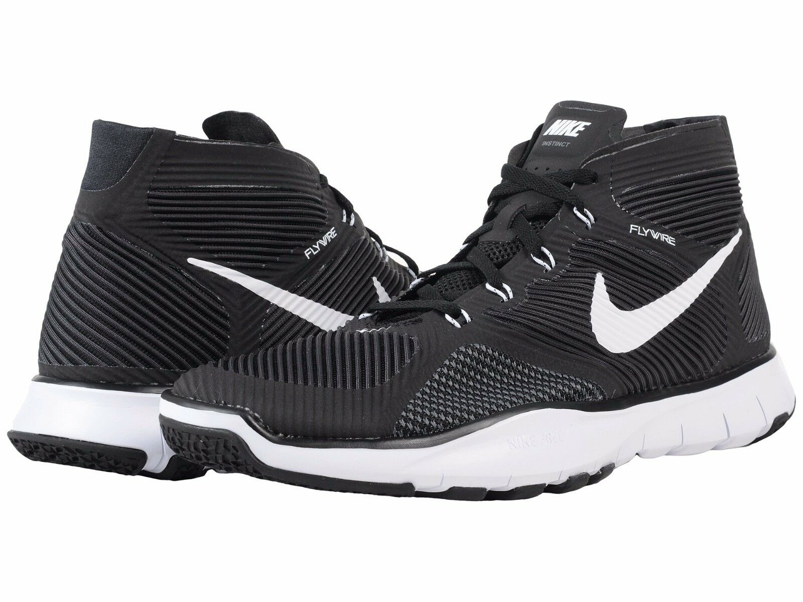 Men's Nike Free Train Instinct Training Shoes, 833274 010 Sizes 9-11 Black/White
