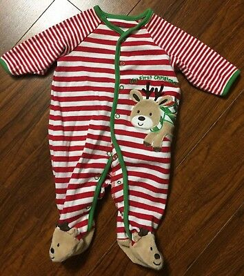 Little Me My First Christmas Sleeper Pajamas Size 3m