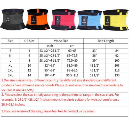 Men/&Women Sweet /& Sweat Fat Burner Waist Trimmer Pocket Belt Weight Loss Shaper