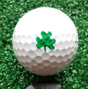 Golf Ball Marker Shamrock Plus - Shamrock Stencil plus Alignment Line and Circle