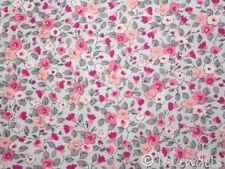 50x150 cm Stoff Baumwolle♥Blümchen grau pink rosa Florencia♥Ökotex Blumen