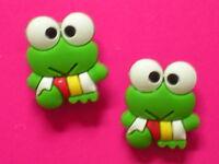 Jibbitz Croc Clog Shoe Plug Button Charms Fit Belt WristBands Sandals 2 Frogs