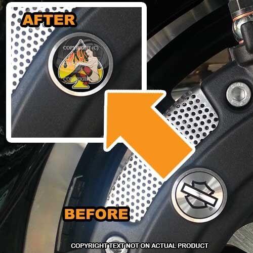 195 GIRL SPADE FLAME Brembo Front Brake Caliper Insert Set For Harley