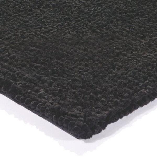 TASHEN solo nero Tappeti, Shaggy infeltriti a mano lana pile pesante 160x230cm RRP