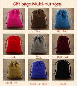 Multi-Color-1-10-20pcs-Cadeau-poches-a-Cordon-Velours-Sacs-Bijoux-Mariage-Fete
