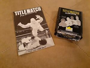 TITLE MATCH by ABSOLUTE for ATARI 2600 ▪︎ CARTRIDGE and MANUAL ▪︎